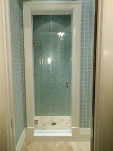 """Frameless Shower Door 24"""" x 72"""" or 76"""" 3/8 Glass ..."""