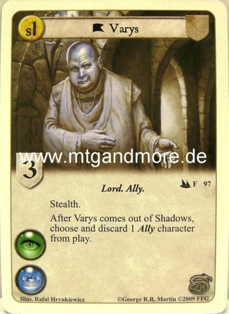 A Game of Thrones LCG - 1x Varys  #097 - Secrets and Spies