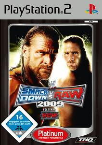 WWE-Smackdown-Vs-Raw-2009-Platinum-PS2-Playstation-2