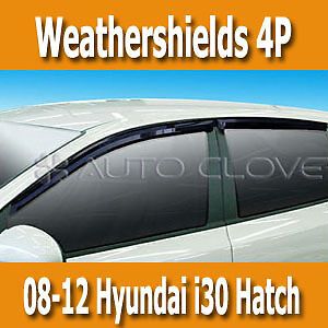 Weathershields Smoke Sunvisors 4P for 2008-2012 i30 Hatch Active Elite Premium