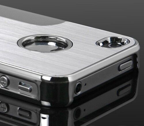 New Silver Luxury Steel Chrome Deluxe Case Cover For iPhone 4 4S Super Designed