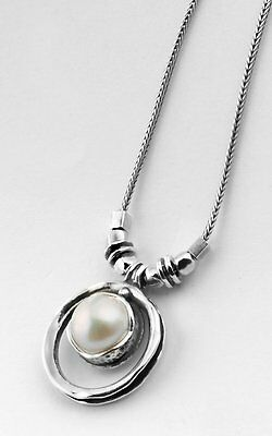N00829SP SHABLOOL ISRAEL Didae Handcrafted FW Pearl Sterling Silver 925 Necklace