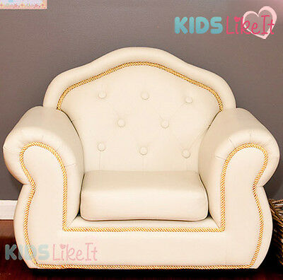 Deluxe FRENCH PROVINCIAL PVC Leather KIDS Sofa LOUNGE ARM CHAIR Brand NEW