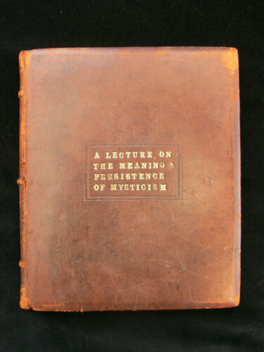 """The Meaning & Persistence of Mysticism"" Original MS Book c.1920 Agnes M. Crow"