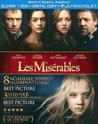 Les Miserables (Blu-ray Disc, No DVD, 2013)