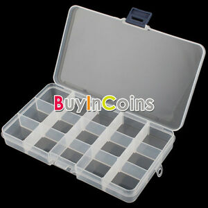 Adjustable-15-Compartment-Plastic-Storage-Box-Jewelry-Earring-Tool-Container-SY