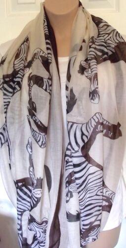 Huge XL Zebra Lrg Print Circle Loop Infinity Scarf Snood  Slouchy On Trend