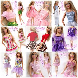 15 Items = 5 Pcs Mini Cute Dresses & Clothes 5 Shoes 5 hangers ...