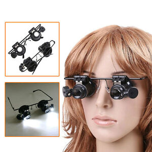 20X-Magnifying-Magnifier-Eye-Glasses-Loupe-Lens-Jeweler-Watch-Repair-LED-Light
