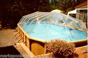 Oval above ground swimming pool solar sun dome pool cover - Electric swimming pool covers cost ...