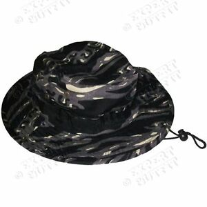 FLOPPY-BOONIE-HAT-Black-CAMO-CAMOUFLAGE-HUNTING-BUCKET-CAP-NEW-WHOLESALE-SALE