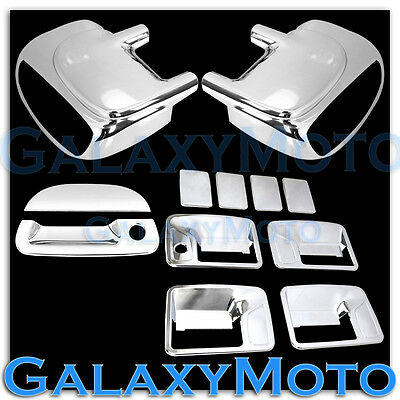 99-07 Ford Super Duty Chrome Mirror W/ Light+4 Door Handle No KH+Tailgate Cover