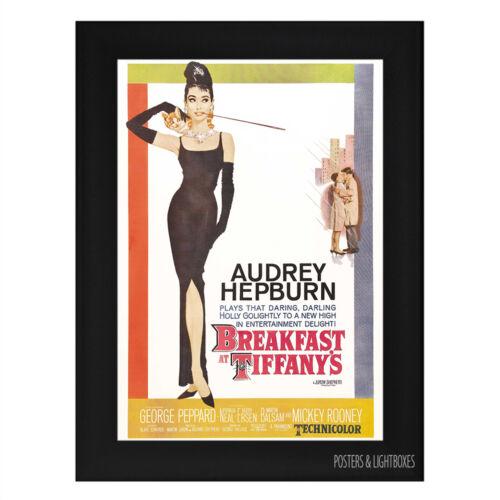 BREAKFAST AT TIFFANYS Ref 01 Framed Film Movie Poster A4 Black Frame