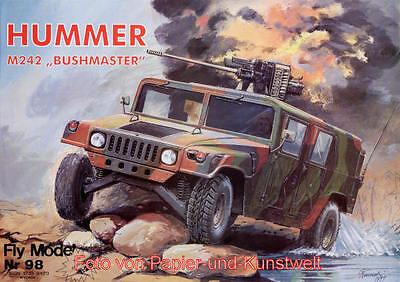 FLY Model  98 - M 242 Bushmaster (HMMWV Hummer) - 1:25
