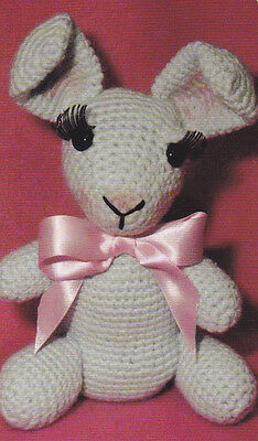 Crochet Pattern ~ ROBERTA THE RABBIT Easter Bunny Stuffed Animal ~ Instructions