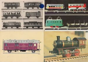MODEL TRAINS LOCS RAILWAY TOYS France 21 Postcards 1960-1980