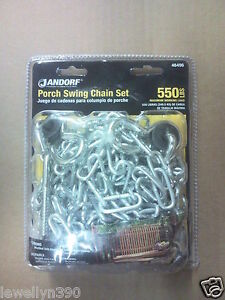 Jandorf-Porch-Swing-Chain-Set-550-lbs-working-load-4-0mm-welded-link-chain-NEW
