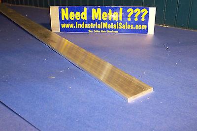 "6061 T651 Aluminum Flat Bar 1/4"" x 2"" x 48"" -Long-->.250"" x 2"" MILL STOCK"