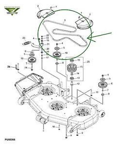 Rx75 John Deere Wont Move likewise T25101586 Need belt diagram john deere l120 mower also John Deere 445 Mower Deck Parts Diagram likewise S 63 John Deere D130 Parts besides Mower deck will not engage when the PTO switch is turned on. on john deere mower deck belt diagram