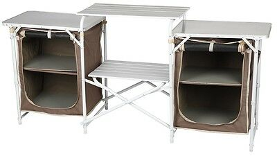 OZTRAIL DOUBLE PANTRY Camping Camp Kitchen Table