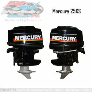 25XS-Mercury-Marine-Racing-Motor-25hp-Outboard-Reproduction-Decal-Set-4-Pc