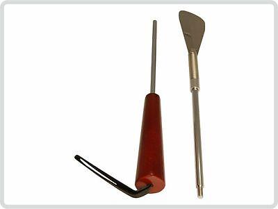 Schuhanzieher Schuhlöffel mit Feder und Holzgriff, 65 cm lang