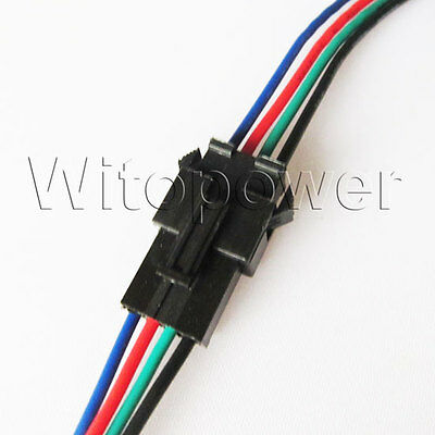 10set 4PIN JST Connector Cable Wire Male Female For 5050 6803 RGB LED Strip Bar