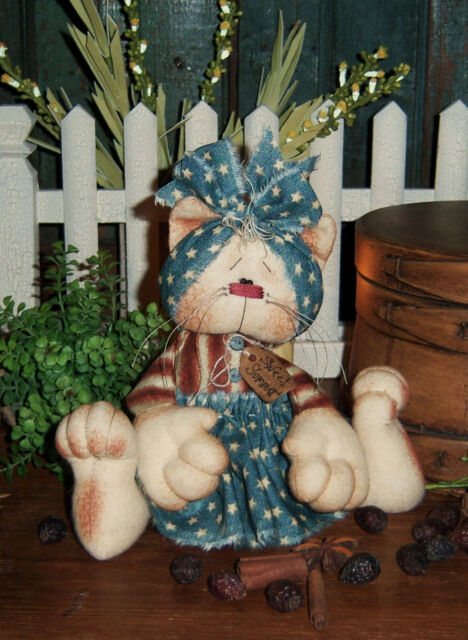 Primitive Annie Kitty Cat Ann Doll Ornie Paper Pattern #472