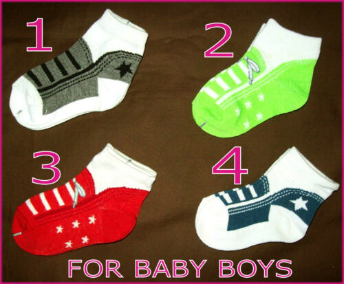 IMITATION SHOES Infant Sox NEW Boy or Girl BABY Socks Sz 1-3 age 6-18 mths