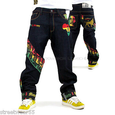 Dirty Money is ® One Love Rasta Raw Time Jeans Hip Hop