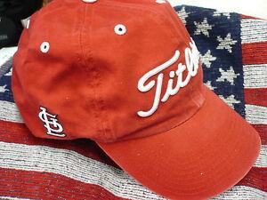 NEW-Titleist-St-Louis-Cardinals-RED-MLB-Baseball-Golf-Cap-Hat