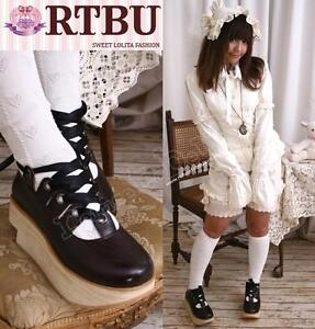 Gothic-Sweet-Lolita-Cosplay-Rocking-Horse-Wood-Platform