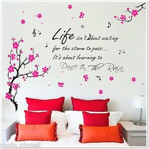 Image Is Loading HUGE Flowers Blossom Butterflies Children Wall Stickers  Dance  Part 71