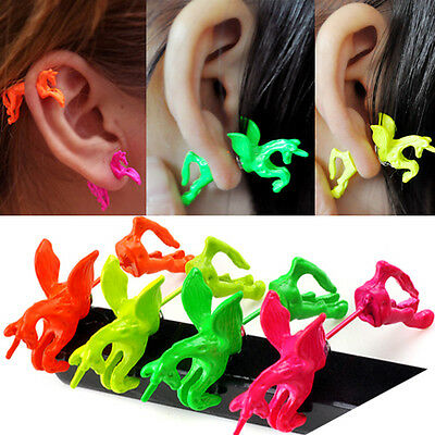 1Pc New Fashion Cool Punk Vintage Retro Unicorn Horse Ear Stud Cuff Wrap Earring