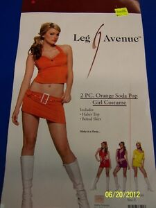 2-pc-Orange-Soda-Pop-Girl-60s-Retro-Dress-Up-Halloween-Sexy-Adult-Costume