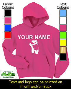 PERSONALISED-KIDS-BALLET-SHOES-PRINTED-HOODIE-HOODIES-GREAT-GIFT-NAMED-TOO