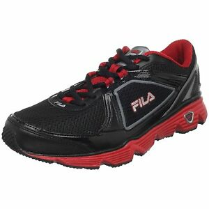 Mens-Fila-DLS-Circuit-Training-Running-Shoes-Black-Silver-Red