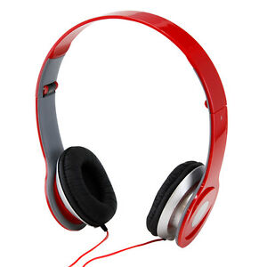 New-Red-3-5mm-Headphone-for-iPod-Phone-PC-MP3-MP4-MP5-Earphone-Earbuds-Stereo