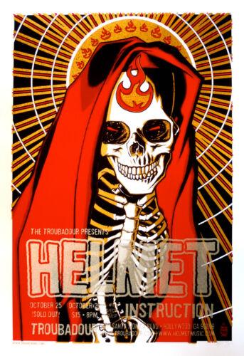 Helmet, Instruction ORIGINAL 2004 Concert Poster Brian Ewing signed ARTIST PROOF