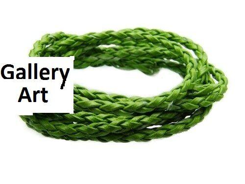 3 mm de cuero trenzado Cable Disponibles Para Hacer Pulseras De Cuero 1m Elige Color