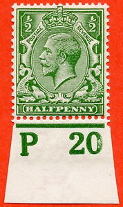 SG-351-d-Green-A-fine-mounted-mint-034-P20-imperf-034-control-single