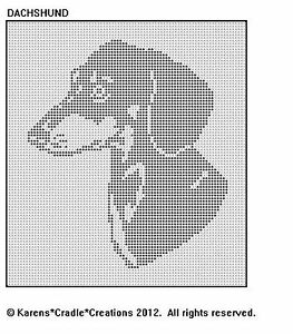 DACHSHUND-Filet-Crochet-Pattern