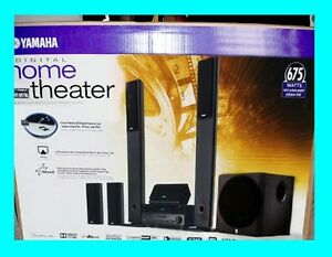 YAMAHA-YHT-897-5-1-CHANNEL-HOME-THEATER-IN-A-BOX-SPEAKER-SYSTEM-YHT-897BL-NEW