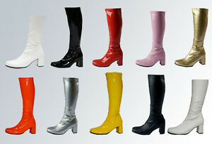 Fancy-Dress-Party-GOGO-Boots-60s-amp-70s-Party-Boots-Size-2-5-to-11-UK