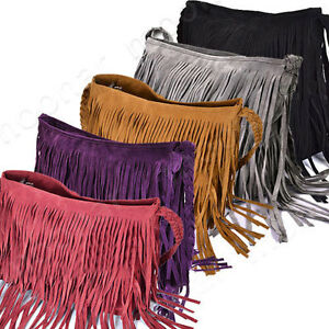 Steet-Style-Women-Celebrity-Fringe-Tassel-Shoulder-Messenger-Bag-Handbag-Vintage