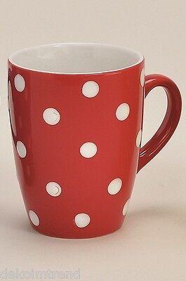 Tasse Keramik gepunktet Punkte gelb lila grün rot Kaffee Kaffeetasse (24447)