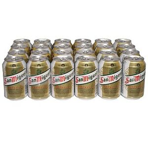 san miguel bier 24x0 33l dosen 5 alkohol spanisches dosenbier ebay. Black Bedroom Furniture Sets. Home Design Ideas