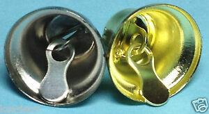 12-x-17mm-Small-Gold-Silver-Tone-Liberty-Jingle-Bells-Christmas-Ornaments-Crafts