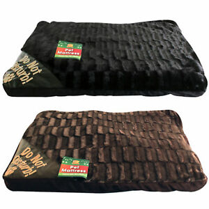 LARGE-LUXURY-WASHABLE-PET-DOG-CAT-BED-MATTRESS-SOFT-WARM-FLEECE-FUR-LOOK-NEW