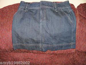 ELLE-Denim-Mini-Skirt-Size-8-Women-039-s-NWOT
